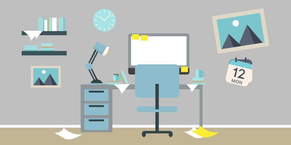 Productivity No Internet Messy Desk