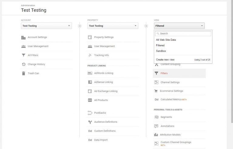 Adding Views in Google Analytics