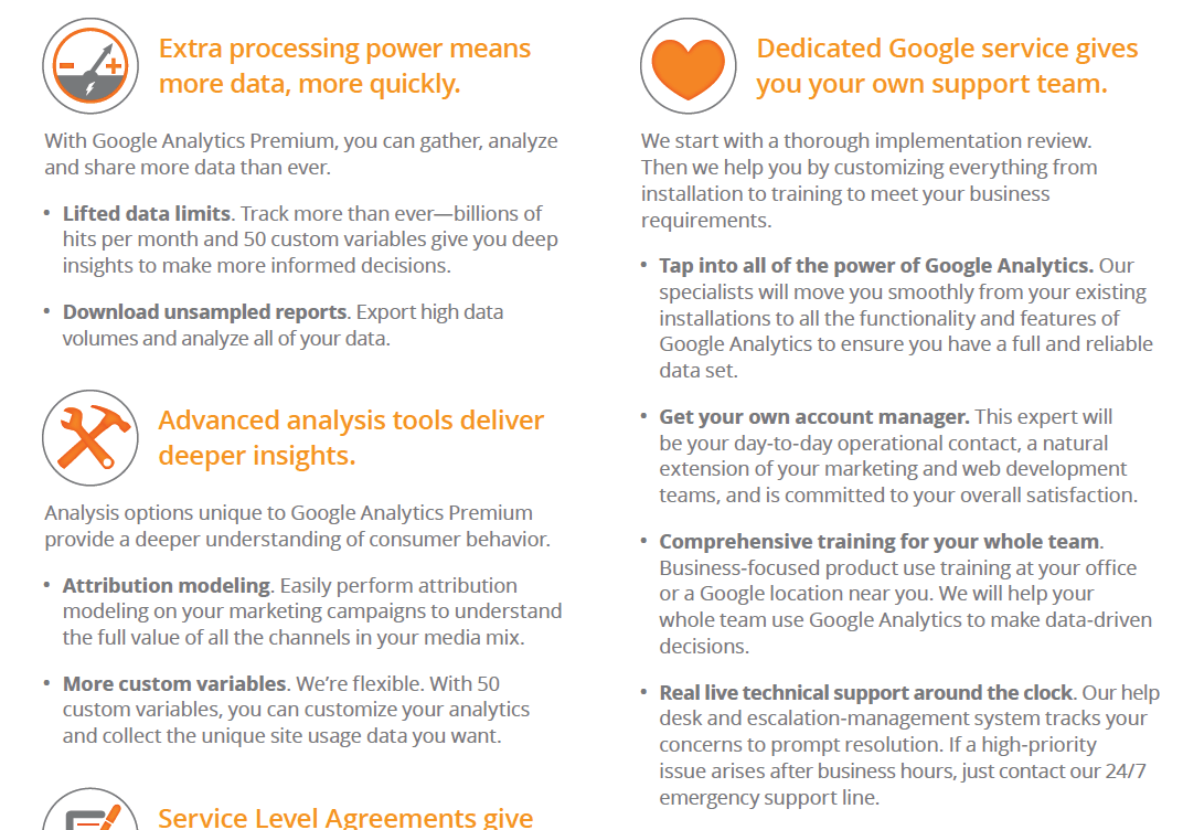 Features in the New Google Analytics Premium