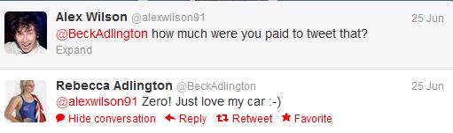Rebecca Adlington Tweet