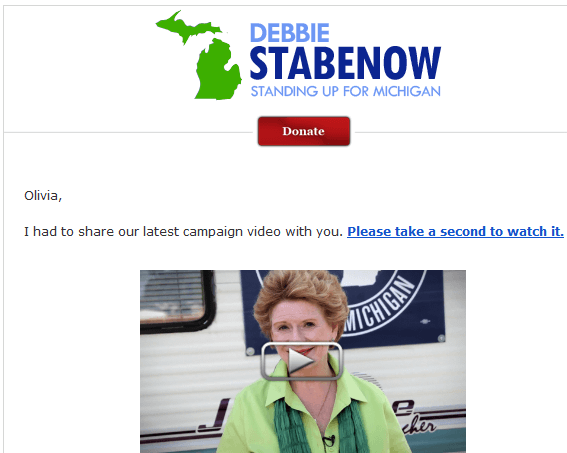 Stabenow for Senate Email