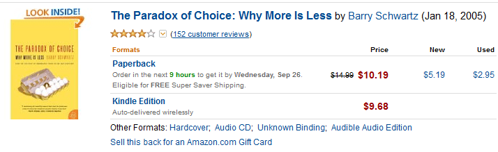 The Paradox of Choice Amazon