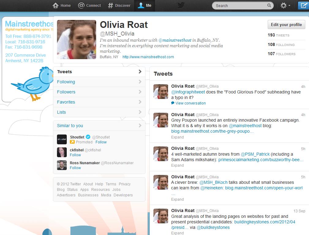 Twitter My Profile