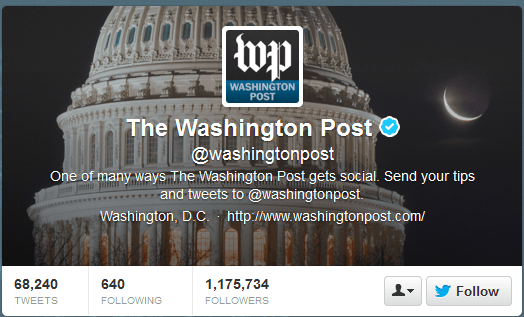 Washington Post Twitter Header