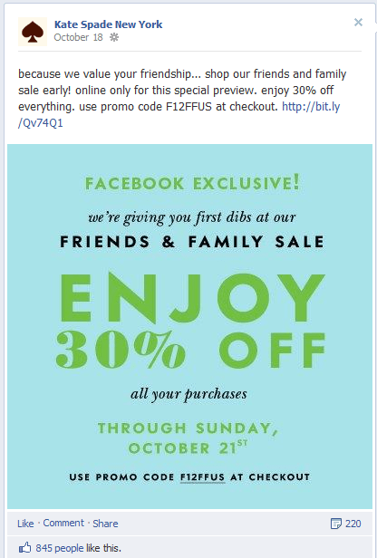 Kate Spade Spade Family and Friends