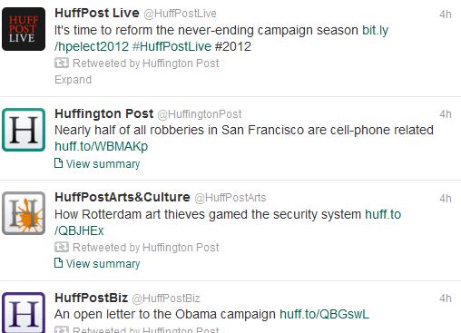 Huffington Post Twitter