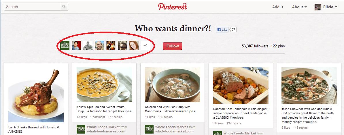 Whole Foods Pinterest Board