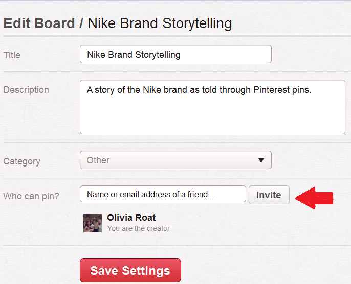 Pinterest Board Contributors