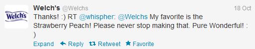 Welch's Twitter