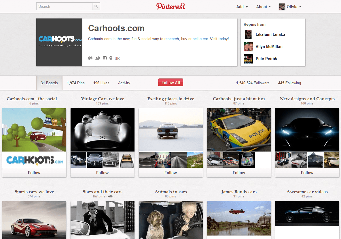 Carhoots.com Pinterest