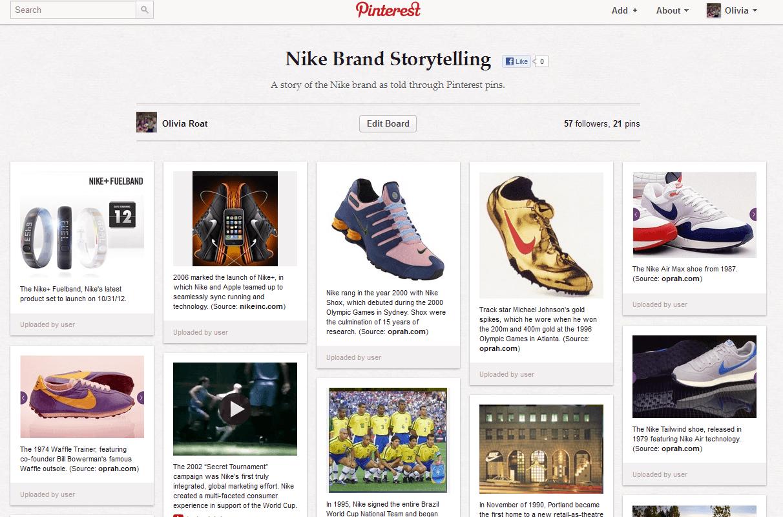 Nike Pinterest Board