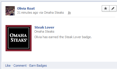 Omaha Steaks Badge