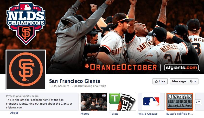 San Francisco Giants Facebook