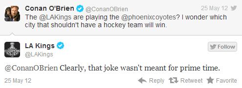 L.A. Kings Conan O'Brien