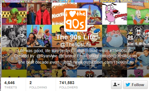 The 90s Life Twitter