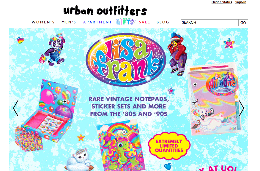 Urban Outfitters Lisa Frank