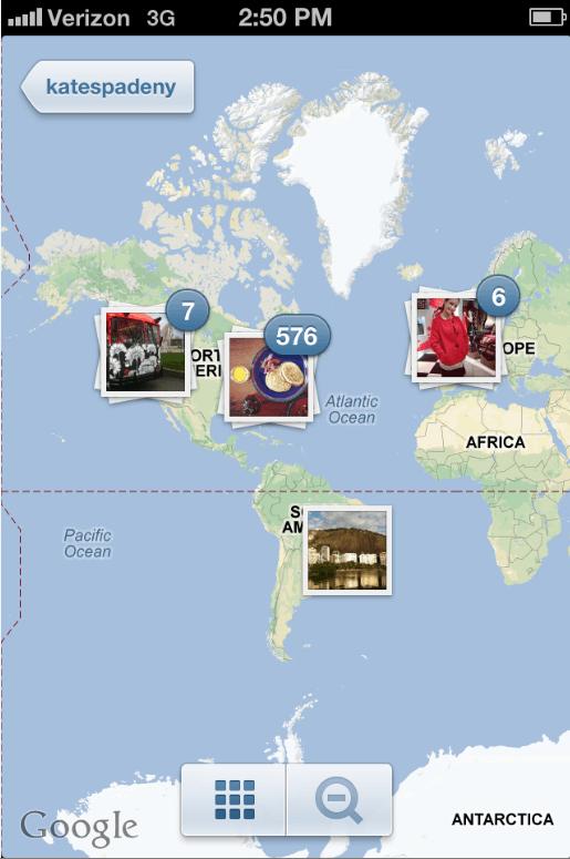 Instagram Kate Spade Photo Map