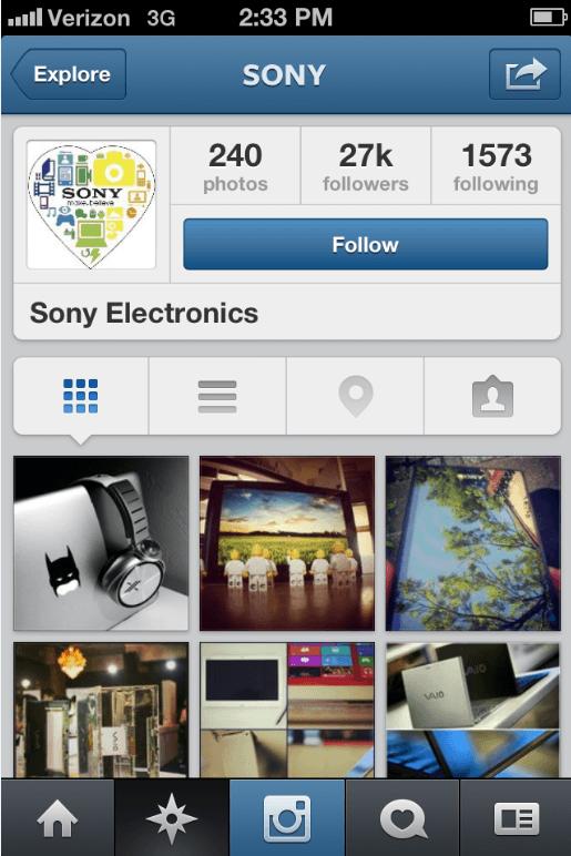 Instagram Sony