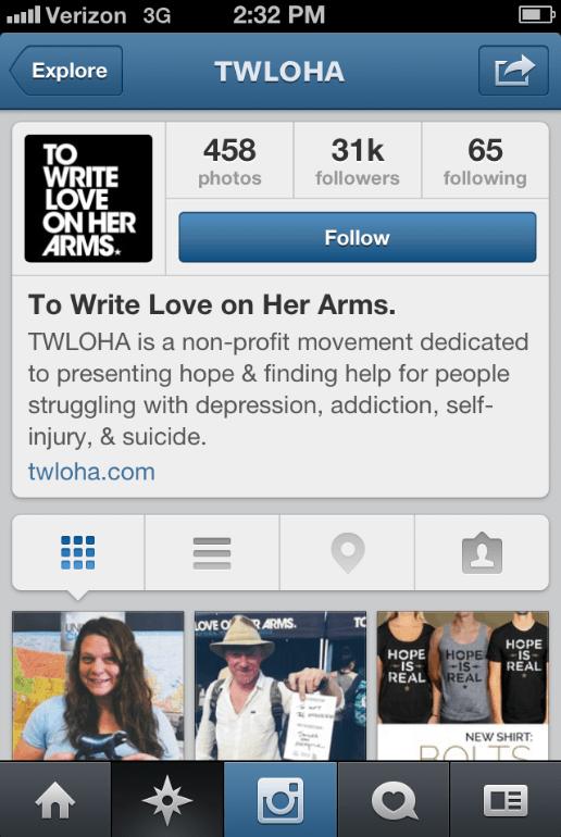 Instagram TWLOHA