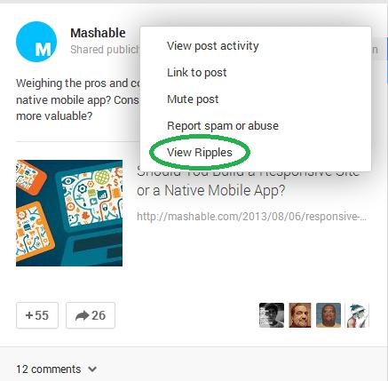 Google Plus Ripples Mashable 2