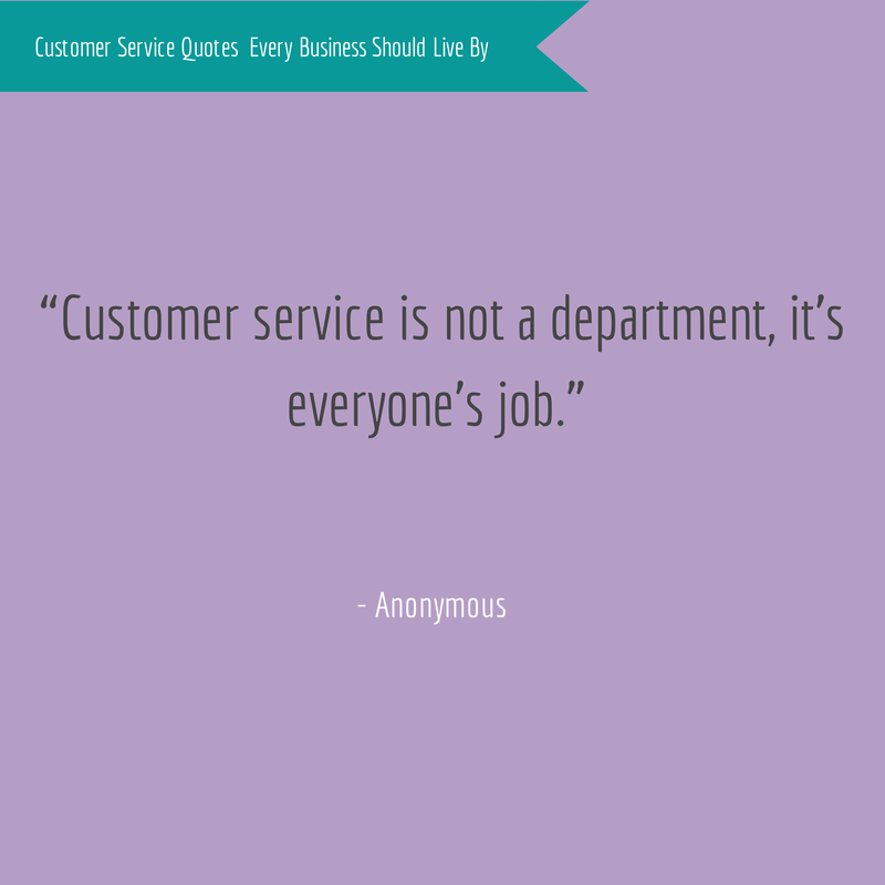 Anonymous Customer Service Quote