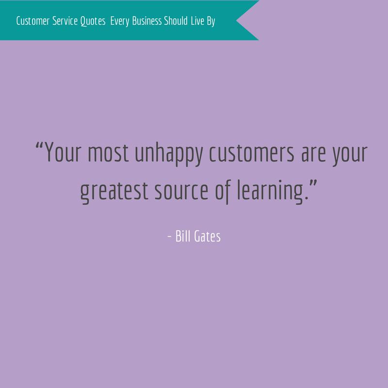 Bill Gates Customer Service Quote