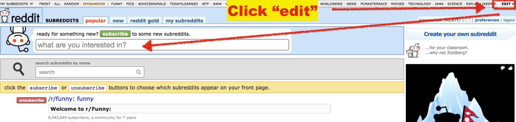 Researching Reddit Subreddits