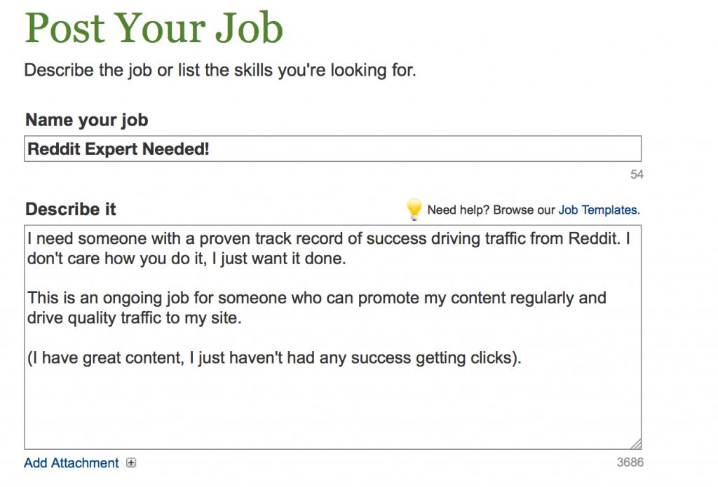 Reddit Job Posting