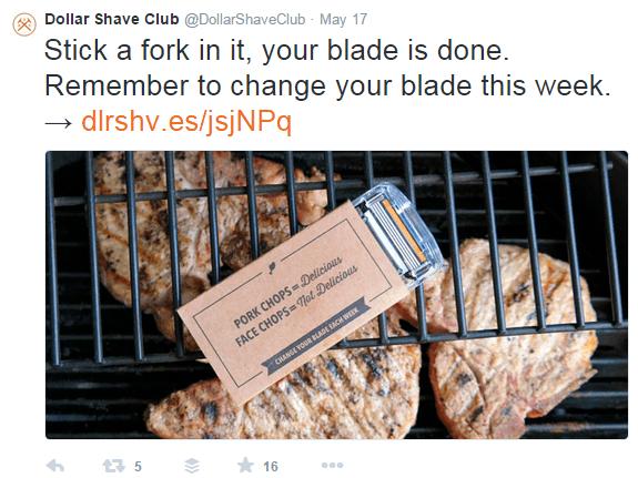 Dollar Shave Club Twitter