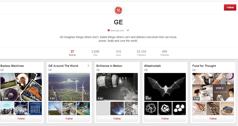 GE Pinterest