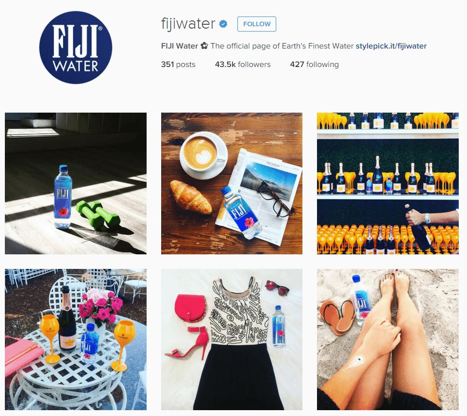 FIJI Water Instagram