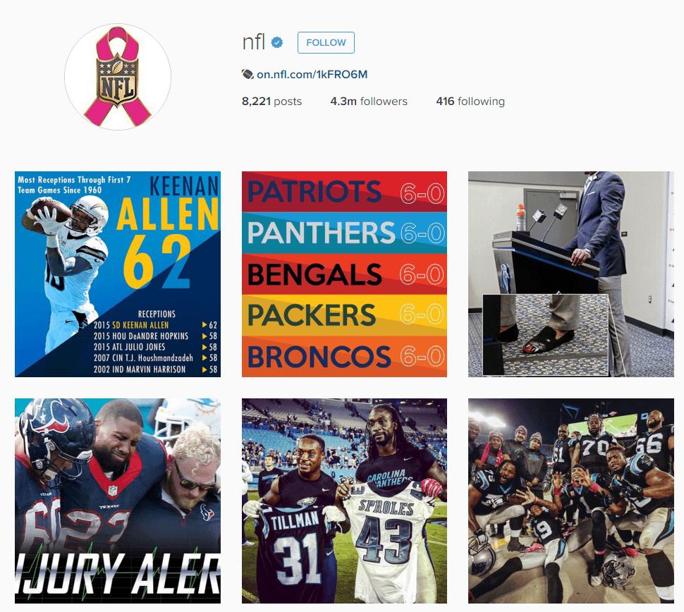 NFL Instagram
