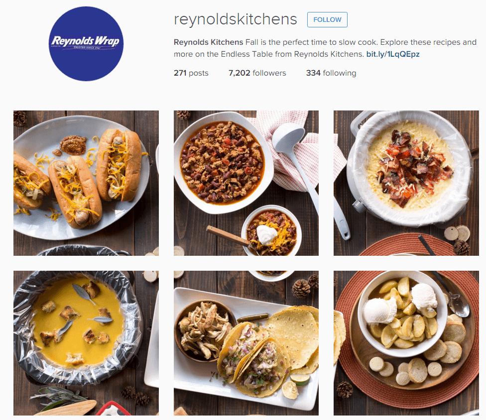Reynold's Wrap Instagram