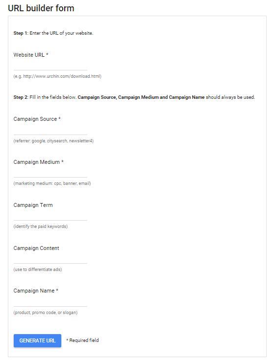 Google Analytics URL Builder Form