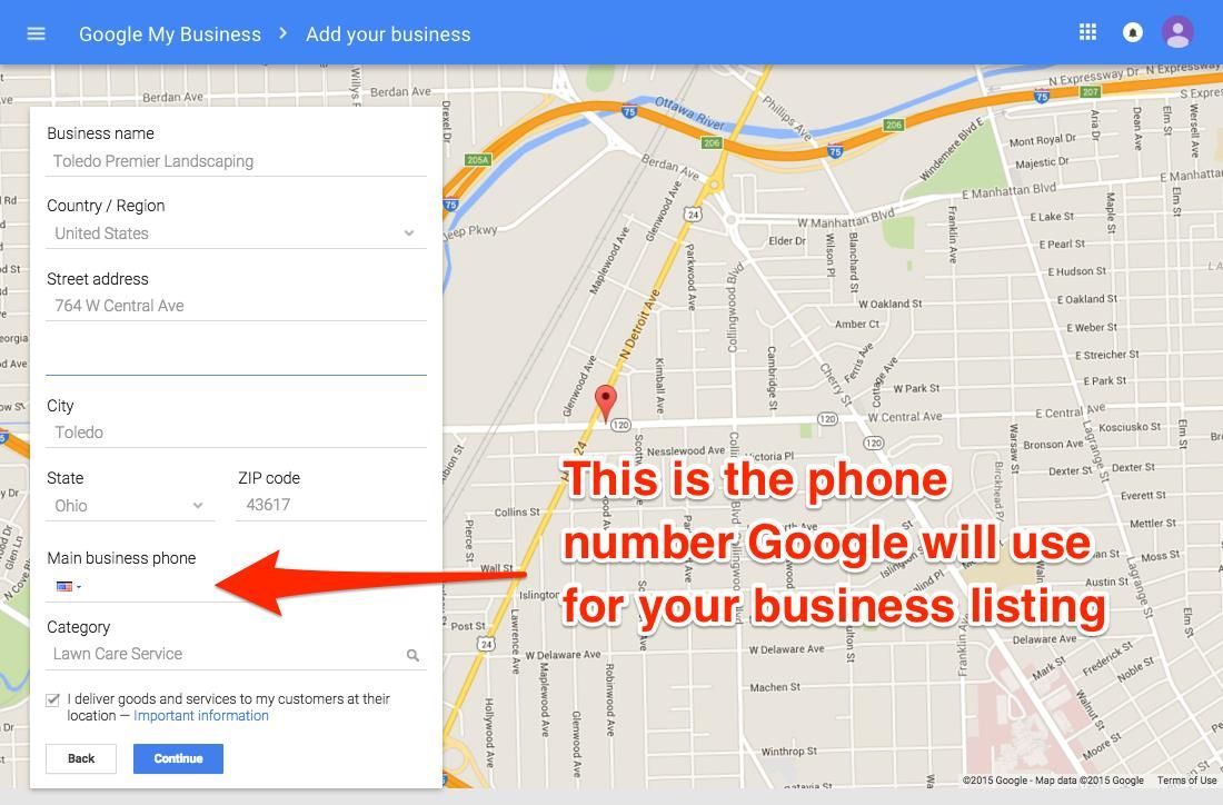 Google My Business Phone Number