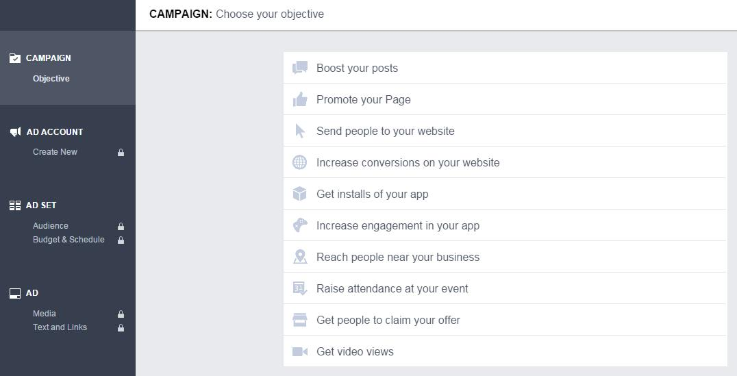 Ads Manager Facebook Ad Choose Objective
