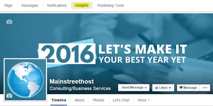 Mainstreethost Facebook Insights