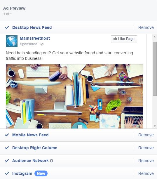Facebook Ad Desktop News Feed