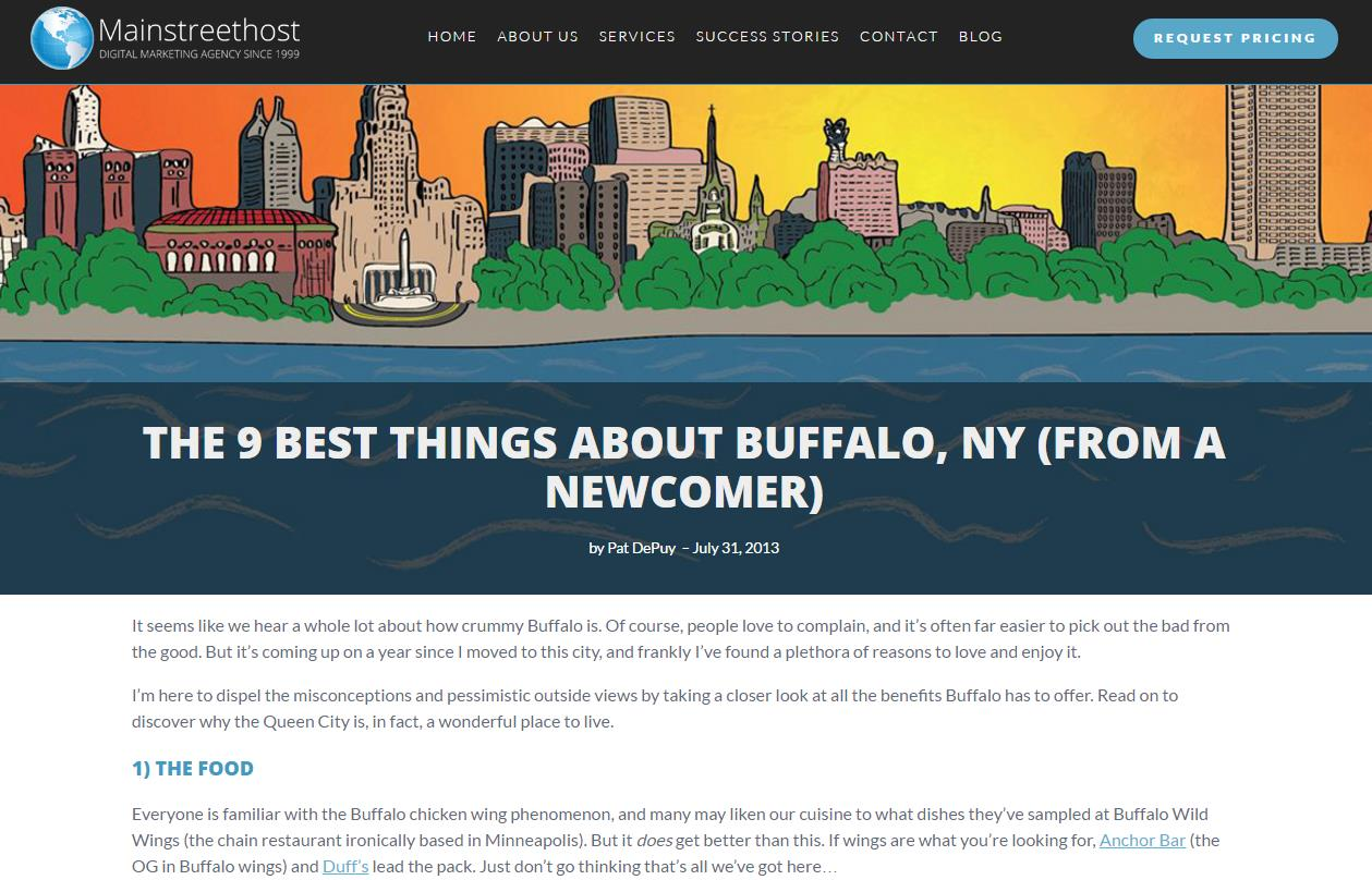 Local Ad Targeting Best Things About Buffalo NY