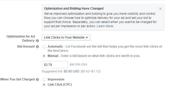 Facebook Ad Power Editor Bidding