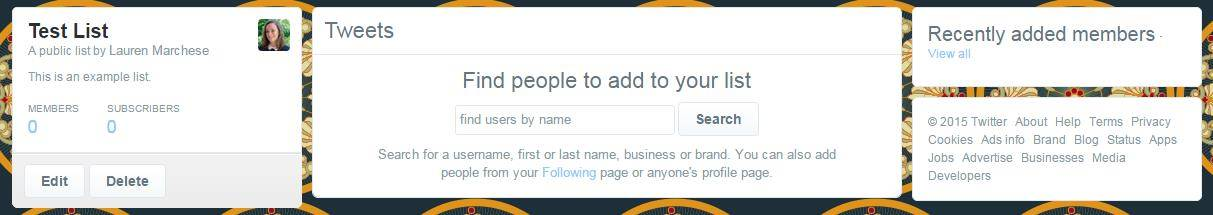 Twitter Lists add People Users