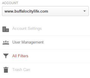 Google Analytics Account Level