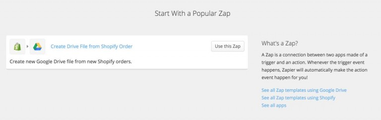 Zapier for Shopify