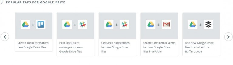 Zaps for Google Drive