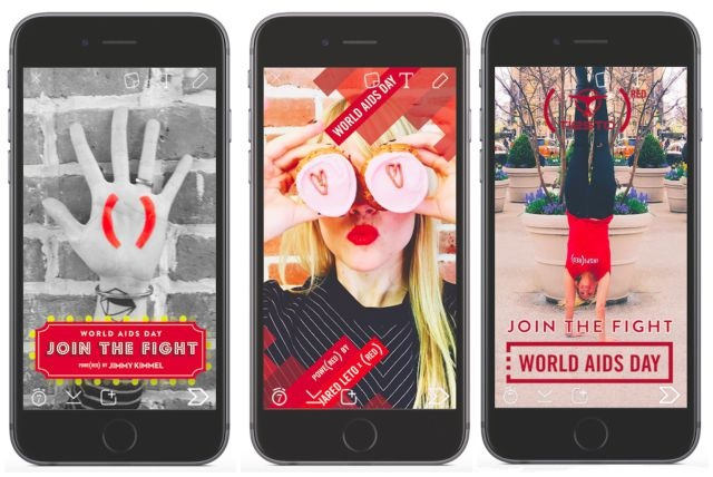 Snapchat Product Red AIDS Research Fundraising