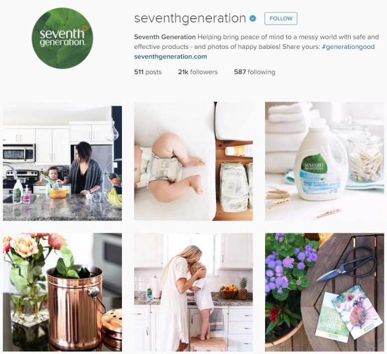 Seventh Generation Instagram