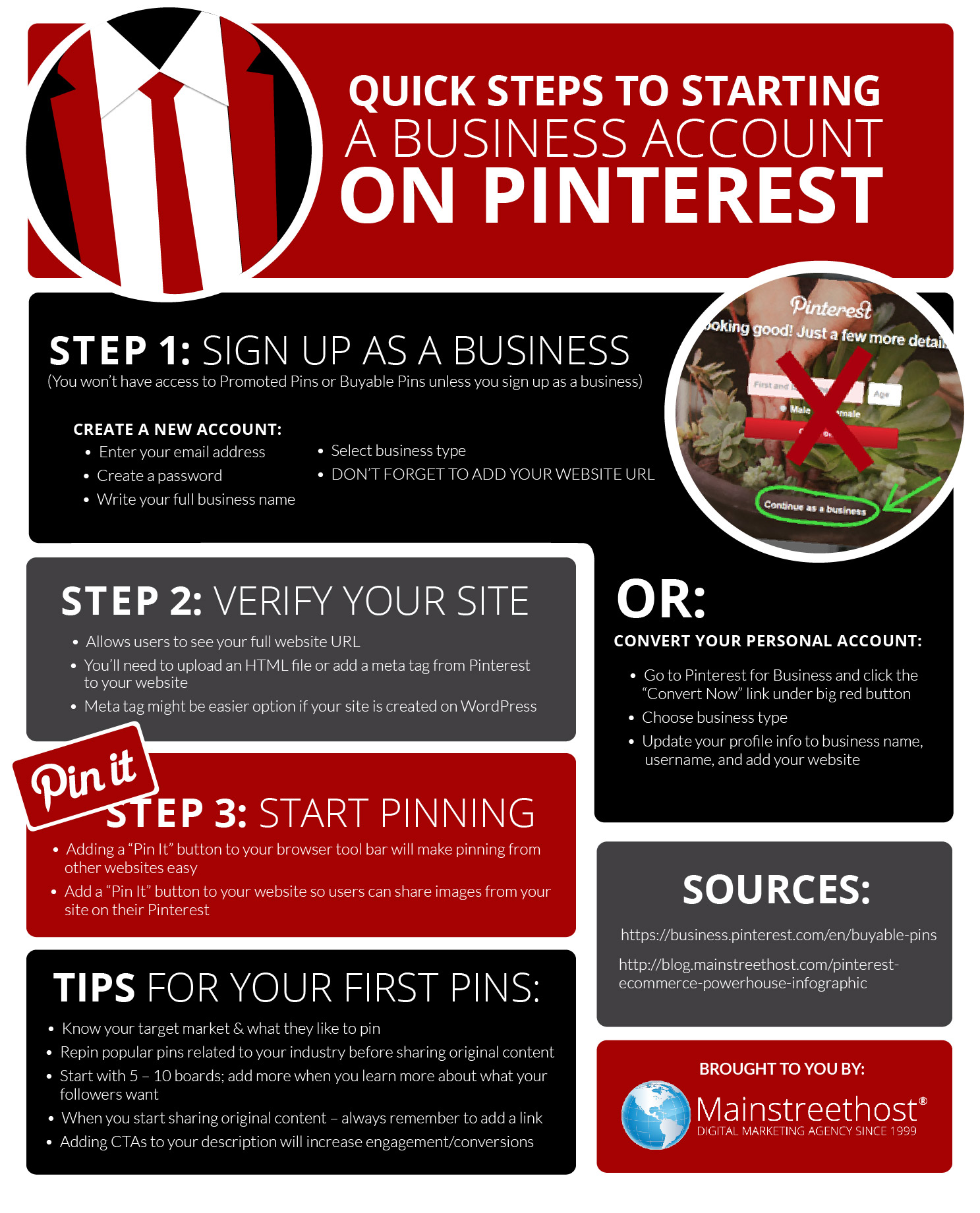 Pinterest Business Account Infographic