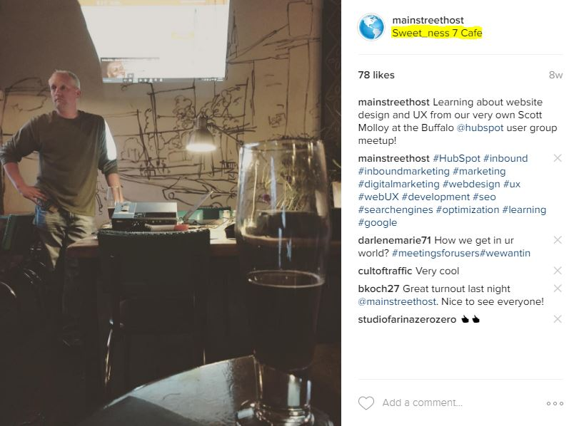 Mainstreethost Instagram for Business Geotags