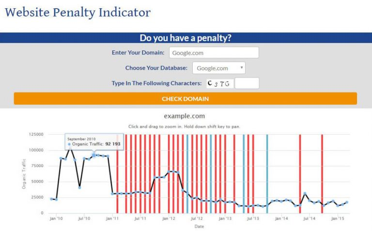 Website Penalty Checker