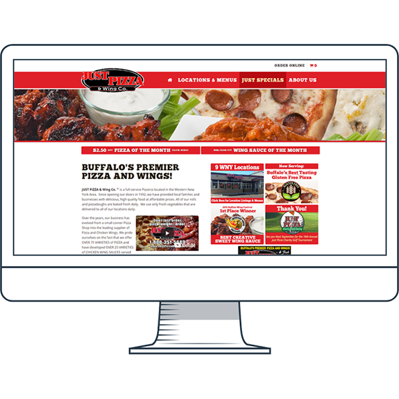 Just Pizza Website
